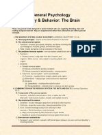 General Psychology Brain