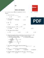 7th CBSE SA1 Mathematics test