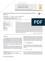 1. Experimental and Numerical Study of Asperity Degradation in the Direct Shear Test