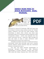 Sejarah Ikan Mas