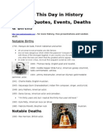 June 2 Notable Quotes, Events, Deaths and Births