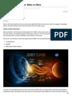 TV Insights Water on Mars