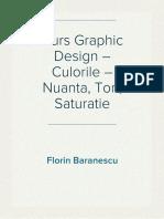 Curs Graphic Design – Culorile – Nuanta, Ton, Saturatie