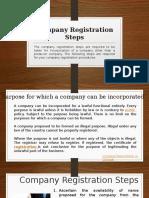 Company Registration Steps