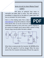 Working of alarm circuit in Auto Mains Panel (AMF)