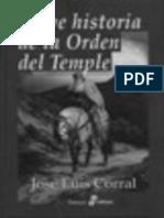 Breve Historia de La Orden Del Temple - Corral Jose Luis