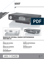 Manual Radio de cocina SlverCrest SKR 800 A1 110458_ES_IT_PT