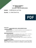 Lab Analítica I - Titulaciones Ácido - Base en Medio Acuoso