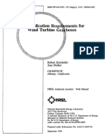 Application Requirements for Wind Turbine Gearboxes (NREL 1994)
