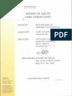 Estudio de Suelos Santa Cruz Montero