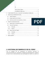 Historia de Barroco en El Perú