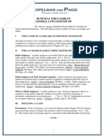 Municipal Tort Liability