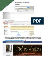 Como Colocar Ícone Do Facebook Em Seu Blog