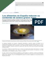 Los Alimentos en España Reducen Su Contenido de Ácidos Grasos Trans _ Noticias _ SINC
