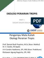 Part I-dasar2 Ekologi -New 2016