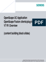 OpenScape UC Application V7 Customer Presentation - Content Building Blocks