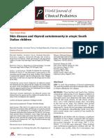 Skin disease and thyroid autoimmunity in atopic South Italian children