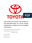 Toyota Assignment