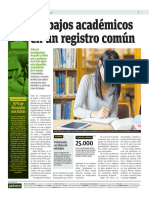 Trabajos Académicos en Un Registro Común