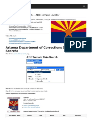 arizona department of corrections inmate surch