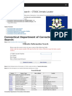 Connecticut Inmate Search Department of Corrections Lookup