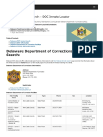 Delaware Inmate Search Department of Corrections Lookup