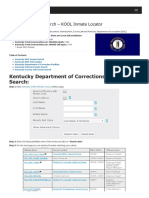 Kentucky Inmate Search Department of Corrections Lookup