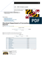 Maryland Inmate Search Department of Corrections Lookup