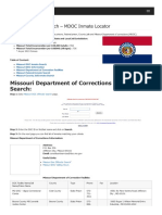 Missouri Inmate Search Department of Corrections Lookup