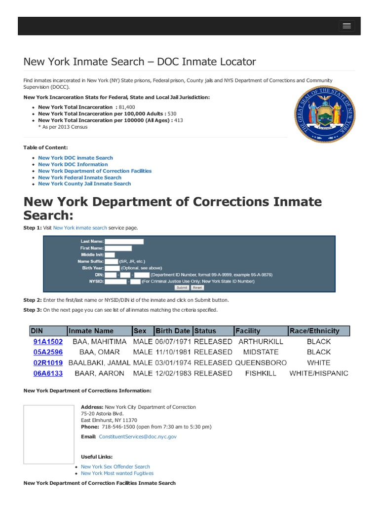 images How to Use the Federal Inmate Locator
