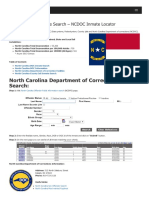 North Carolina Inmate Search Department of Corrections Lookup
