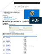 Oklahoma Inmate Search Department of Corrections Lookup