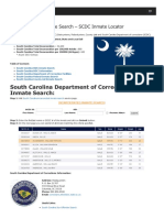 South Carolina Inmate Search Department of Corrections Lookup