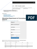 Wyoming Inmate Search Department of Corrections Lookup