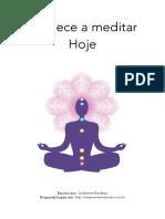 Comece a Meditar Hoje