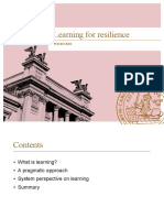 Learning for Resilience