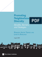 Promoting Neighborhood Diversity-Benefits-Barriers & Strategies