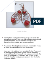 Tutorial  - How to make earrings in wire wrapping technique