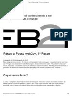 Passo-A-Passo Web2py, 1º Passo _ JuliaRizza