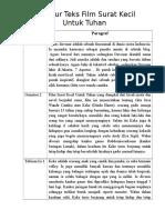 Struktur Teks Film Surat Kecil Untuk Tuhan