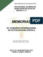 MEMORIAS 22° CONGRESO INTERNACIONAL DE ACTUALIZACIÓN APÍCOLA