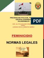normas legales feminicidio