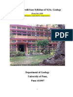 MSc Geology Syllabus University of Pune