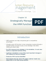 Strategically Managing the HRM Function (Chp 16)