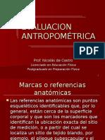 evaluación antropométrica.