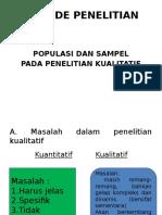 Populasi Dan Sampel METODE PENELITIAN
