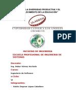 Avance Preliminar - Ingenieria de Software II