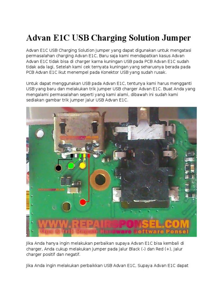 Advan E1C USB Charging Solution Jumperdocx