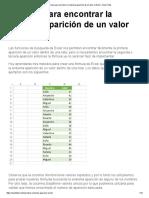Fórmula Para Encontrar La Enésima Aparición de Un Valor en Excel - Excel Total
