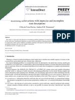 Reasoning aboutactionswithimpreciseandincomplete state descriptions, by Célia da Costa Pereira,Andrea G.B.Tettamanzi